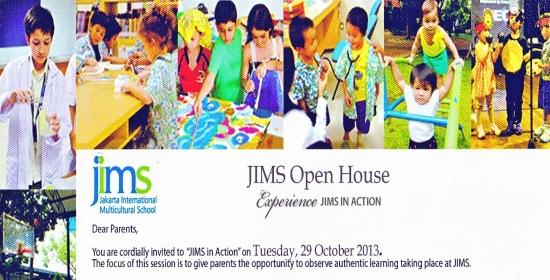 jims,sekolah internasional,sebar brosur