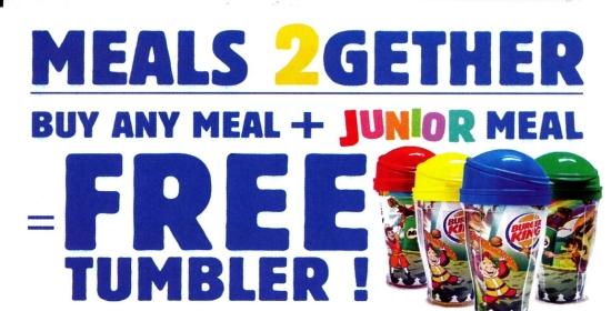 Gratis Tumbler Unik di Burger King!